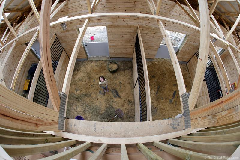 Distorted Barn Interior Picture
