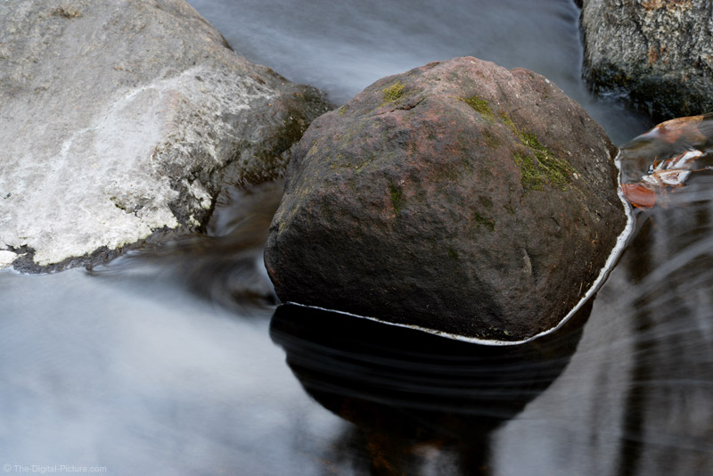 Rock and Motion Blurred Water Picture