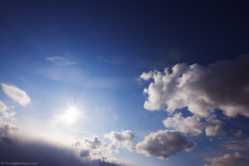 Sun, Clouds and a Blue Sky Picture