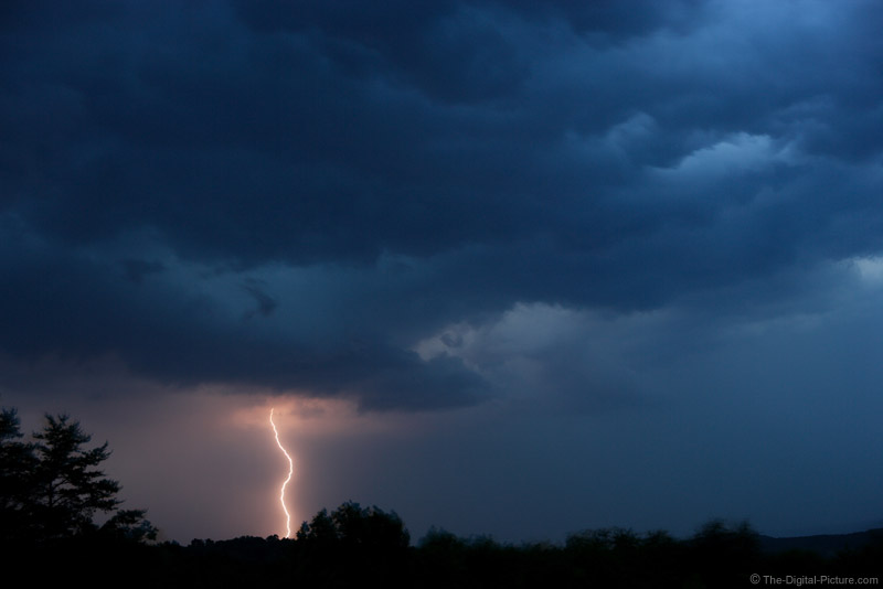 Solitary Lightning Bolt Picture