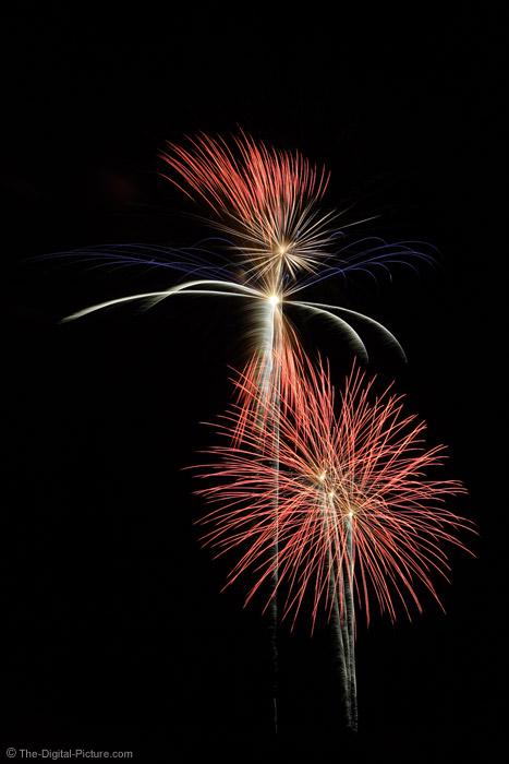 Patriotic Fireworks Display