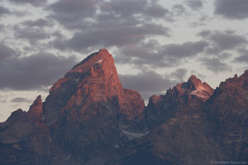 Alpine Glow on Grand Teton Mountain Peak