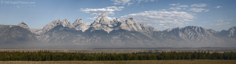 Grand Teton Mountain Range Panoramic