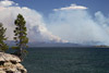 Yellowstone Lake and Forest Fire Picture