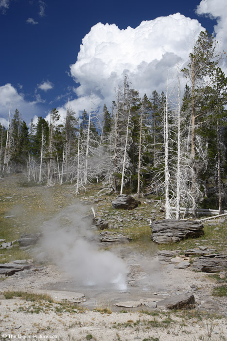 Hot Springs Under Clouds Picture