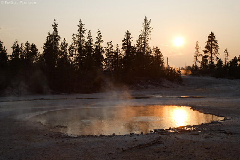 Sunset over Bubbling Hot Spring Picture