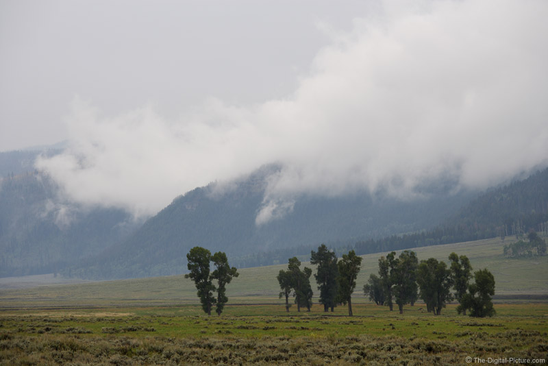 Clouds in Lamar Valley, Yellowstone National Park