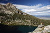 Amphitheatre Lake, Grand Teton and a Hiker