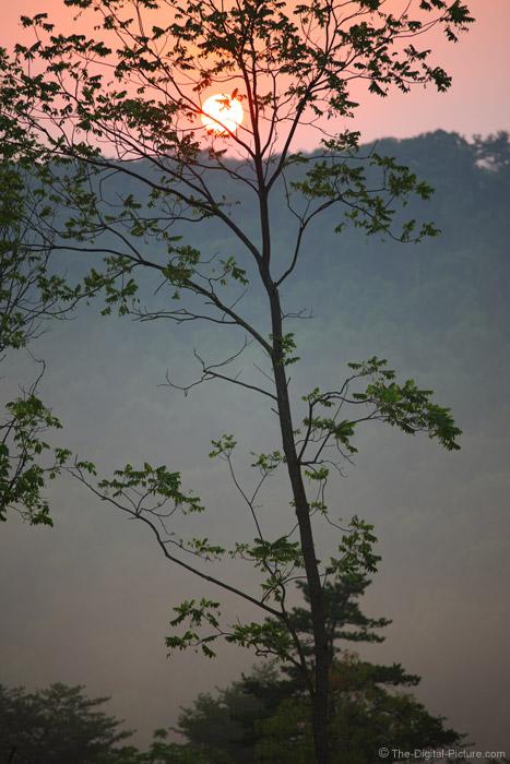 Hazy Valley Sunset