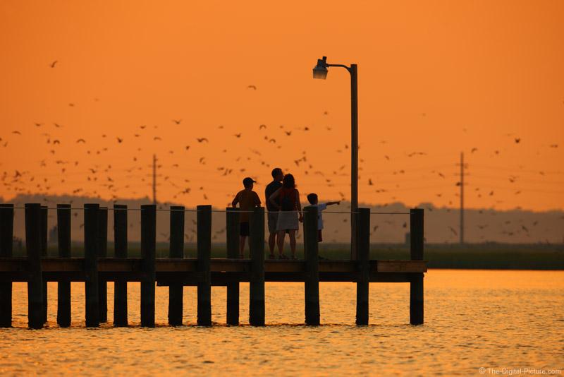 Family on Bay Dock - Chincoteague Island Sunset