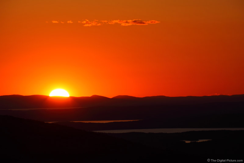 200mm Cadillac Mountain Sunset