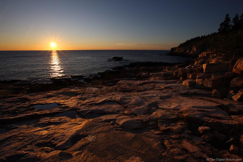 Sunrise on the Rocks, Acadia National Park