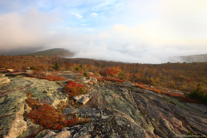 Fog on Cadillac Mountain, Acadia National Park, Maine