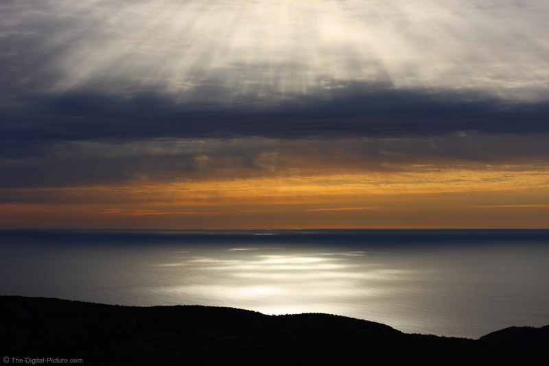 Rays of Sunlight on the Ocean, Acadia National Park