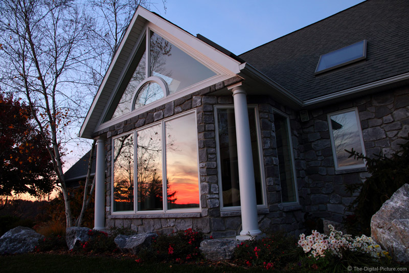 House Reflecting Sunset Picture