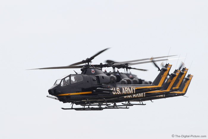 Four US Army Cobra Helicopters