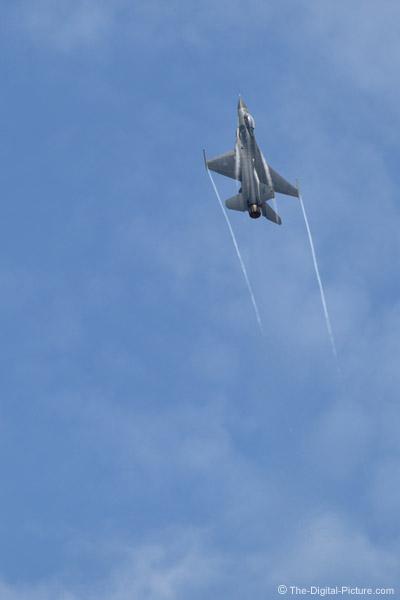 F-16 Falcon and Vapor Trails