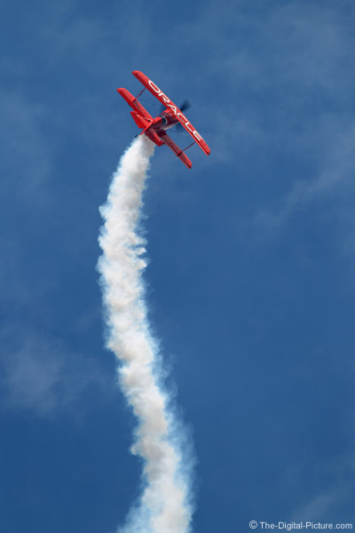 Sean Tucker in the Oracle Challenger Bi-plane