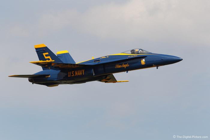 Portrait of a Blue Angels F-18 Hornet