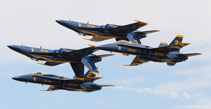 Blue Angels in Precision Double Farvel Formation