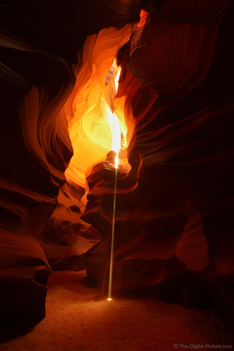 Laser Light Beam, Upper Antelope Canyon