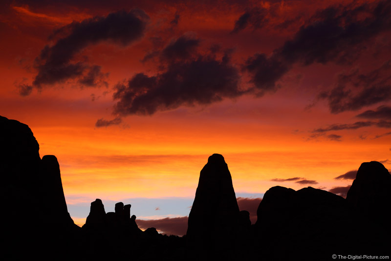 Sunset Over Devils Garden, Arches NP