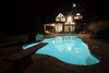 Pool and House at Night