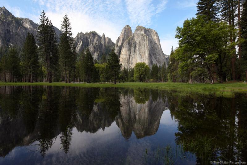 Reflection of Cathedral Rocks, Yosemite National Park
