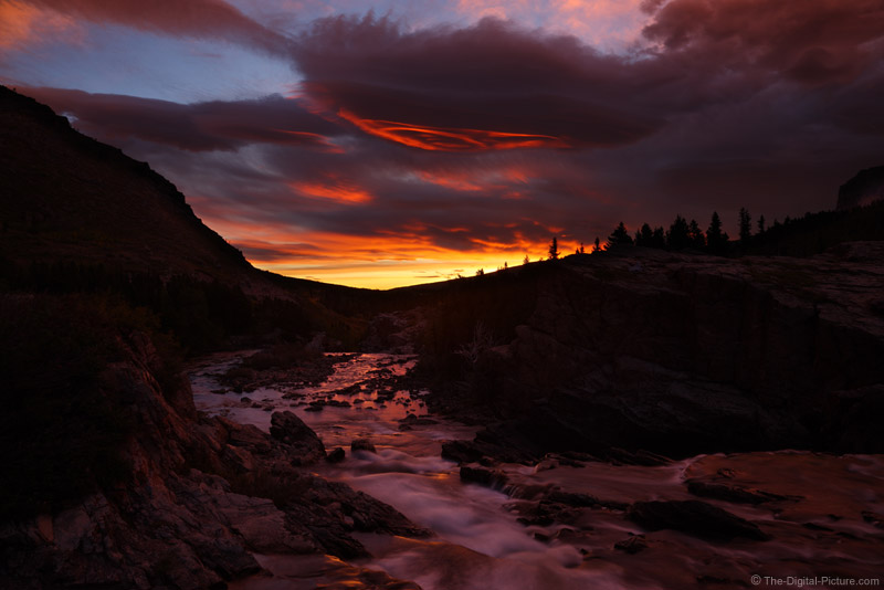 Swiftcurrent Creek Sunrise, Glacier National Park