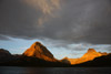 First Light on Grinnell Mountain, Glacier National Park
