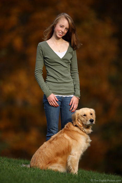 Girl and Her Dog Portrait