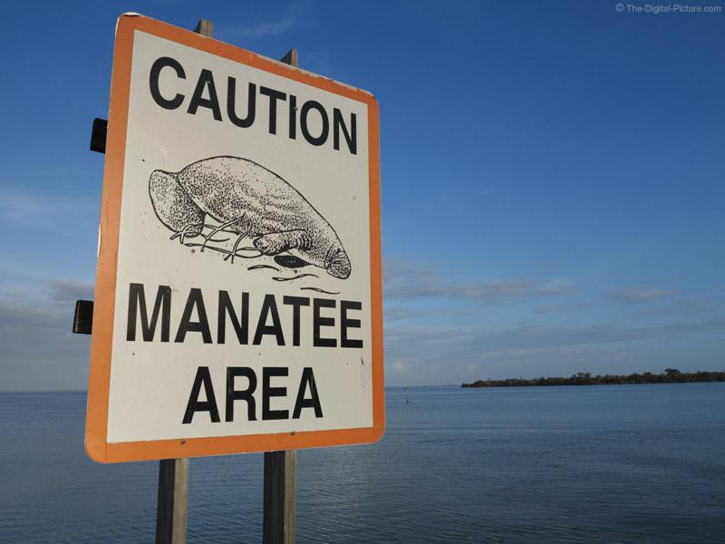 Manatee Area Caution Sign