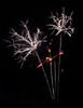 Three Fireworks Burst