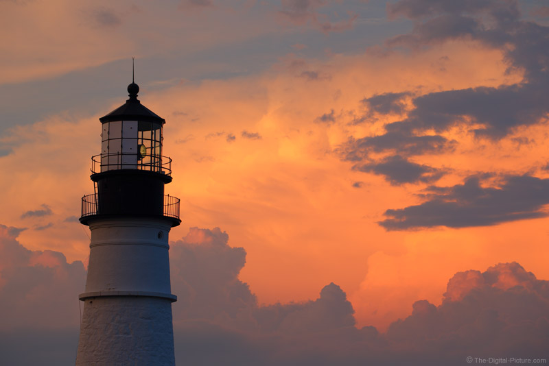 Portland Lighthouse at Sunset