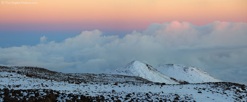 Sunset at Mauna Kea Volcano