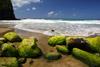 Moss-Covered Rocks, Hanakapiai Beach