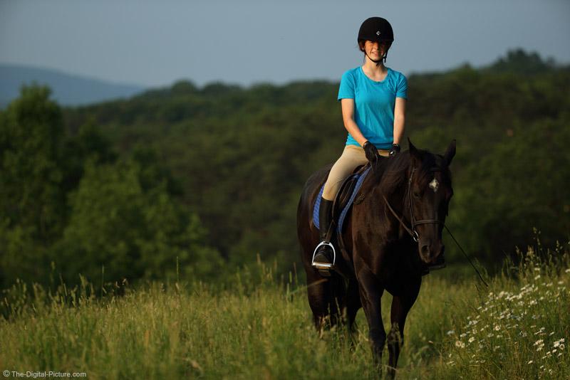 Pretty Girl on Her Pretty Horse