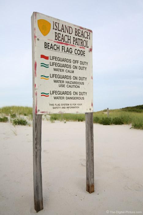Beach Flag Code Sign