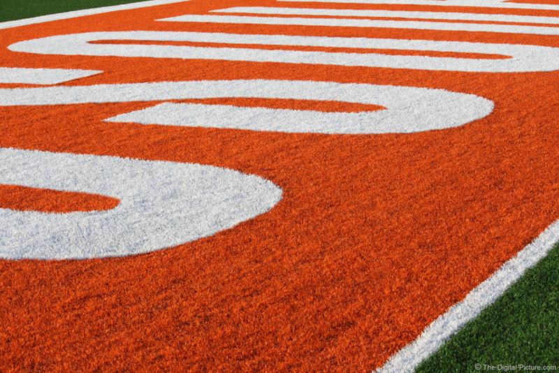 University Football Field End Zone
