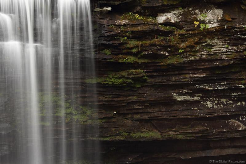 Layered Rock Behind Harrison Wright Falls