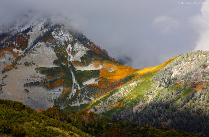 Snow, Fall Foliage, Sun, Clouds and the San Juan Mountains