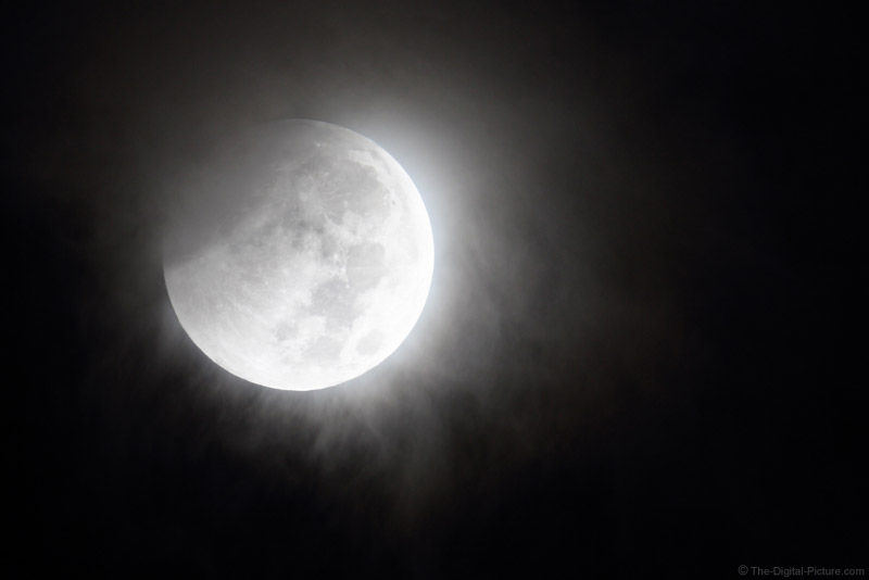 Partially Cloudy Partial Lunar Eclipse at 1200mm
