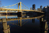 Andy Warhol Bridge Reflecting in Ohio River