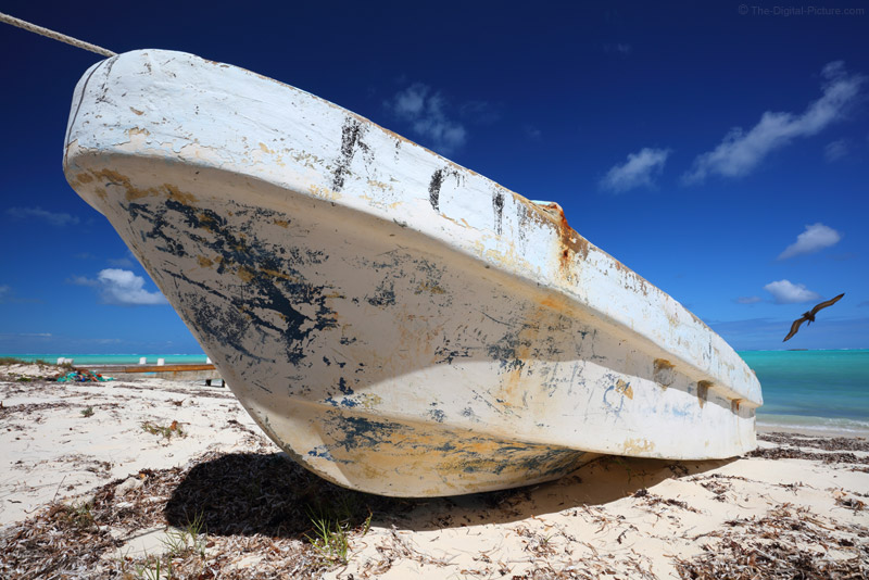 Old Boat on Bambarra Beach, Middle Caicos, Turks and Caicos