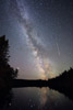 Milky Way and Perseid Meteor, Island Pond, T15-R9, Maine