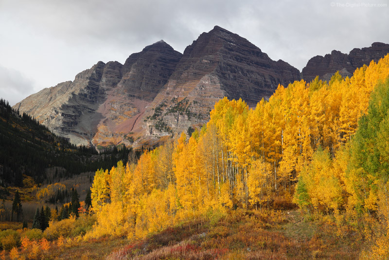 Canon EOS R, Maroon Bells and Brilliant Aspens