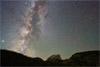 My Favorite Milky Way Lens, A Meteorite and Hallett Peak, Rocky Mountain NP
