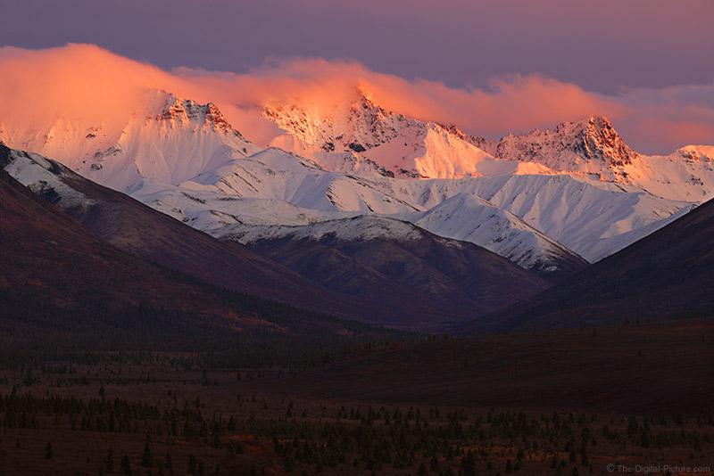 The Canon EOS R5 Takes on Extreme Dynamic Range During Intense Denali NP Sunset