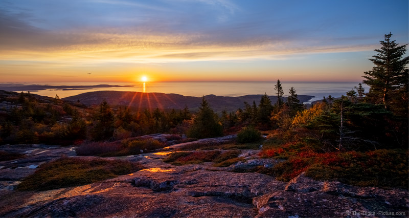 Wide Aspect Ratio Cadillac Mountain Sunnrise, Acadia National Park