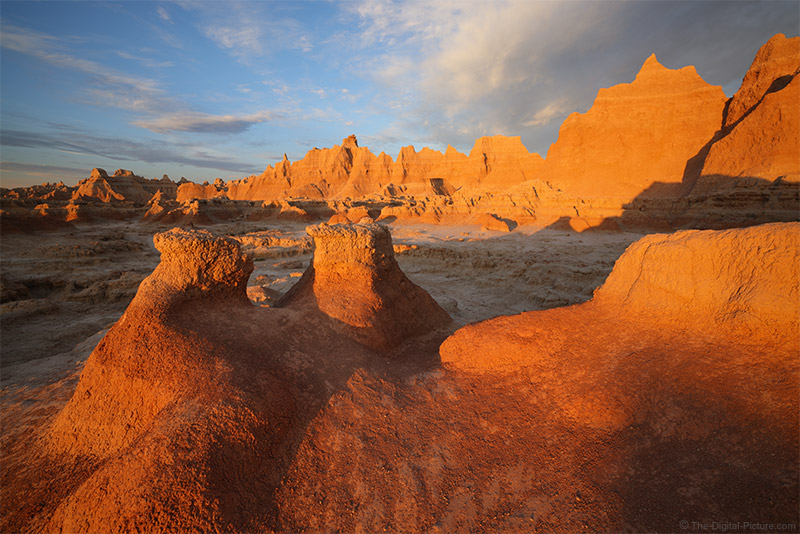 Exercising the Red Channel, Sunrise in Badlands National Park